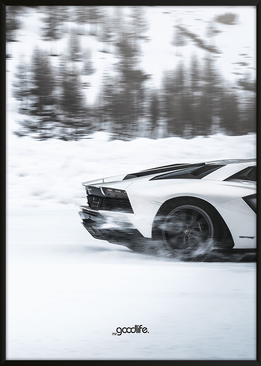 Lamborghini Aventador on Ice